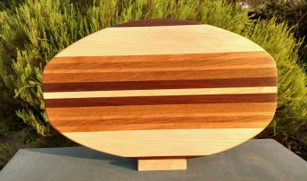 Large Serving Piece 18 - 19. Black Walnut, Hard Maple, Cherry & White Oak.