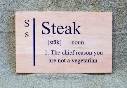 CNC Sign 18 - 96 Steak.