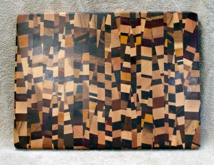 Cutting Board 18 - 723. 18 species are in this board! End Grain. Chaos Board.