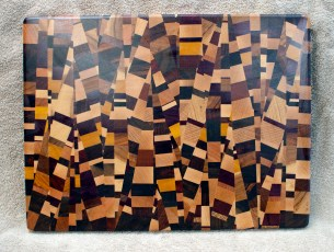 Cutting Board 18 - 725. 18 species are in this board! End Grain. Chaos Board.