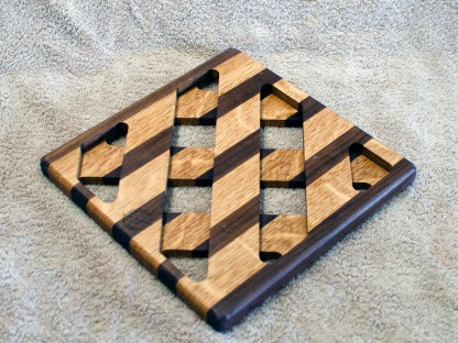 Trivet 18 - 740. Black Walnut & White Oak.