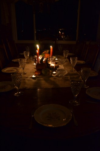 Thanksgiving Table, Candlelight
