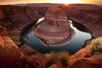 Sunset at Arizona's Horseshoe Bend. Tweeted by the US Department of the Interior, 7/31/14.