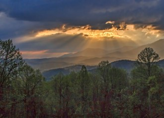 Great Smoky Mountains National Park. Photo by Dee Langevin. Posted on Tumblr by the US Department of the Interior, 4/2/15.