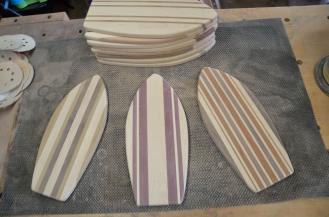 A new novelty shape, actual surfboards ... 11 are finished.