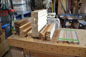 """The stacks of parts are ready for what I call """"picking and processing"""" the boards."""