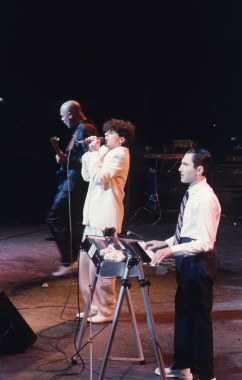 Russell and Ronald Mael (Ronald is on the keyboard).
