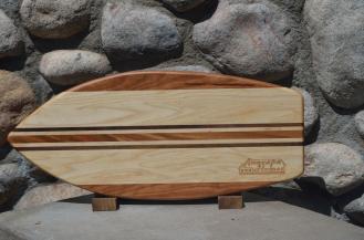 Medium Surfboard for Anacapa Homes. # 2. Cherry, Hard Maple & Black Walnut.