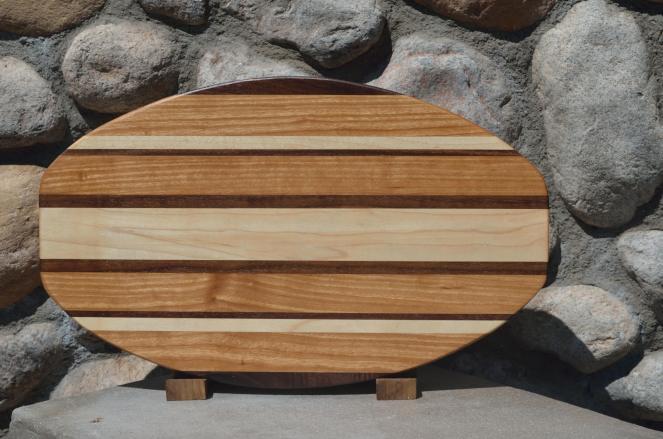 Large Surfboard # 15 - 17. Cherry, Hard Maple & Black Walnut.