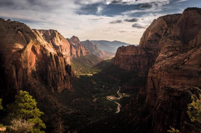The view from Angels Landing in Utah's Zion National Park is truly incredible. Picture by Brock Slinger. Tweeted by the US Department of the Interior, 10/8/15.