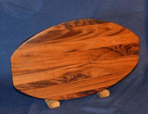 "Surfboard # 15 -28. Black Walnut. 12"" x 19"" x 1-1/4""."