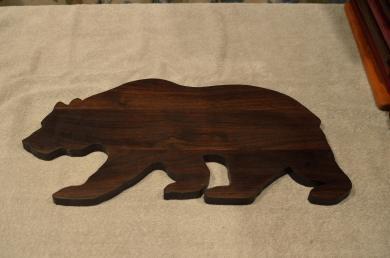 """Bear # 15 - 02. Black Walnut. Edge Grain. 10"""" x 20"""" x 3/4""""."""