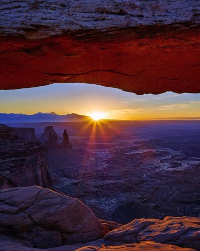First light brings out an array of colors at Mesa Arch at Canyonlands National Park. Photo by Mark Handy. Tweeted by the US Department of the Interior, 3/7/16.