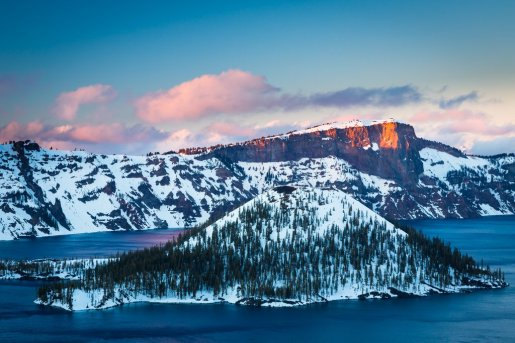 Sunrise at Oregon's Crater Lake National Park. Photo by Inge Johnsson. Tweeted by the US Department of the Interior, 3/23/16.