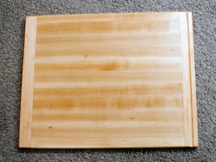 "Cutting Board 16 - Edge 008. Hard Maple. Bread Board Ends. In-counter replacement board. Commissioned Piece. 16"" x 20"" x 3/4""."