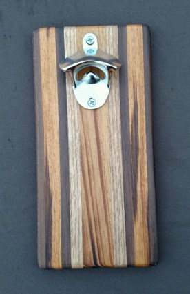 Magic Bottle Opener 16 - 026. Black Walnut, Goncalo Alves & Red Oak.