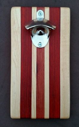 Magic Bottle Opener 16 - 036. Hard Maple, Padauk & Jarrah.
