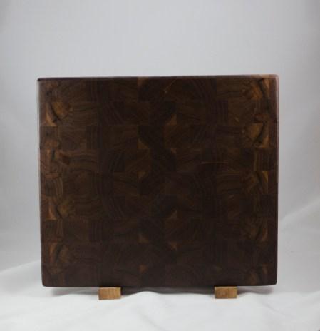 """Cutting Board 16 - End 036. Black Walnut, End Grain. 14"""" x 16"""" x 1-1/8"""". $150."""