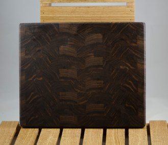 "Small Board 16 - 016. Black Walnut. End Grain. 10"" x 11"" x 1""."
