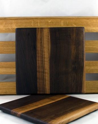 """Cheese Board 16 - 033. Black Walnut. 9"""" x 9"""" x 3/4""""."""