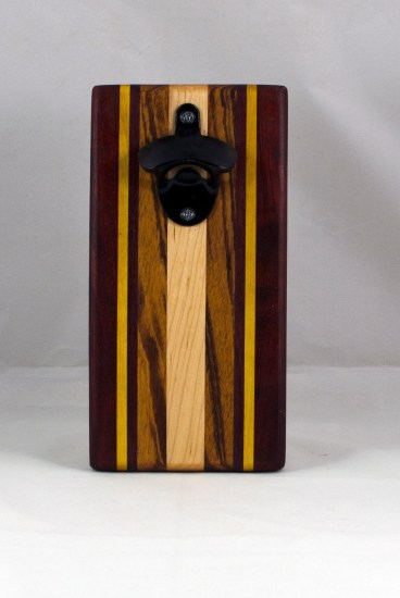 Magic Bottle Opener 16 - 125. Padauk, Yellowheart, Goncalo Alves & Hard Maple. Single Magic.