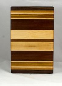 "Small Board 16 - 032. Black Walnut, Jatoba, Hard Maple & Cherry. 8"" x 13"" x 7/8""."