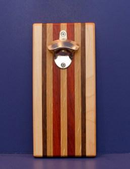Magic Bottle Opener 16 - 167. Oak, Black Walnut, Hard Maple & Padauk. Double Magic.