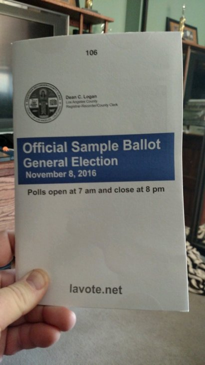 Every registered voter gets a sample ballot so they know what they're up against. Candidates can buy space to put their statements into the ballot; I think it's the best money any campaign can spend.
