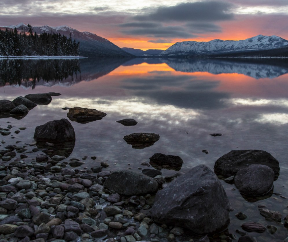 Sometimes, the most remarkable moments in life are the simple ones. There will be 365 sunsets at Glacier National Park in Montana this year. Don't you think you should see at least one? Photo by Jacob W. Frank, National Park Service. Posted on Tumblr by the US Department of the Interior, 1/8/17.