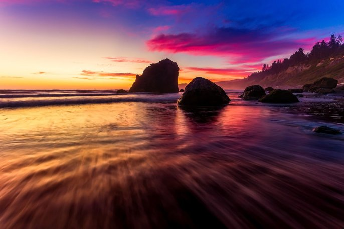 Sunset over Ruby Beach. Olympic National Park. Photo by Doug Day. Tweeted by the US Department of the Interior, 12/16/16.