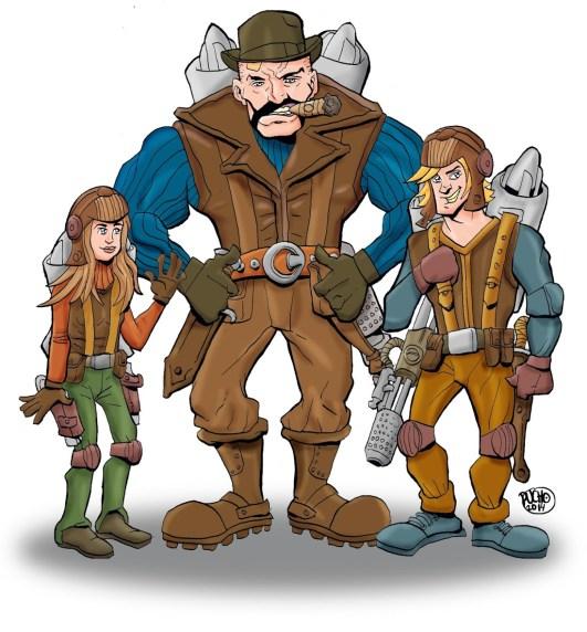 Illustration for Web Comic