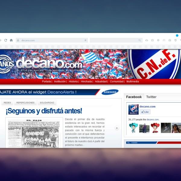 Mockup for decano.com
