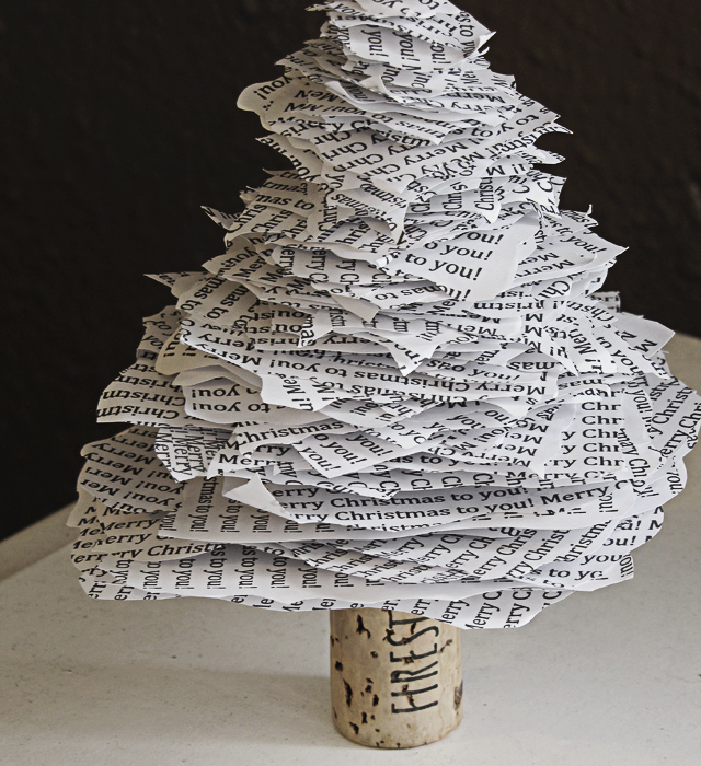 DIY Paper Christmas Tree Mox Amp Fodder