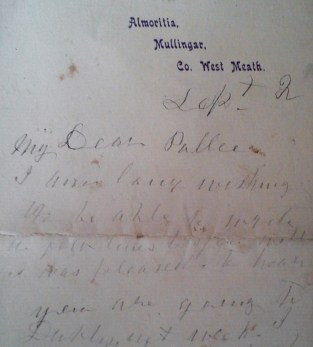 letter 1906 - September 2 - Mary Anne Small (a)