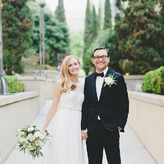 Bride & groom at Cafe Pinot, Downtown Los Angeles Wedding planner, Renee Dalo