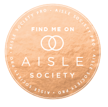 Los Angeles Wedding Planner, Moxie Bright Events, is featured on Aisle Society. Aisle Society featured badge.