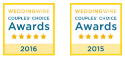 We Won the 2016 WeddingWire Couples Choice Award!