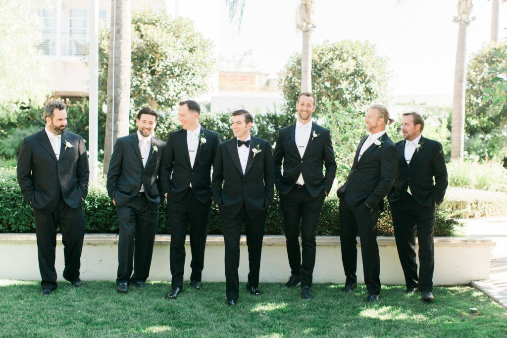 groomsmen in tuxes, Beverly Hills Wedding, Moxie Bright Events