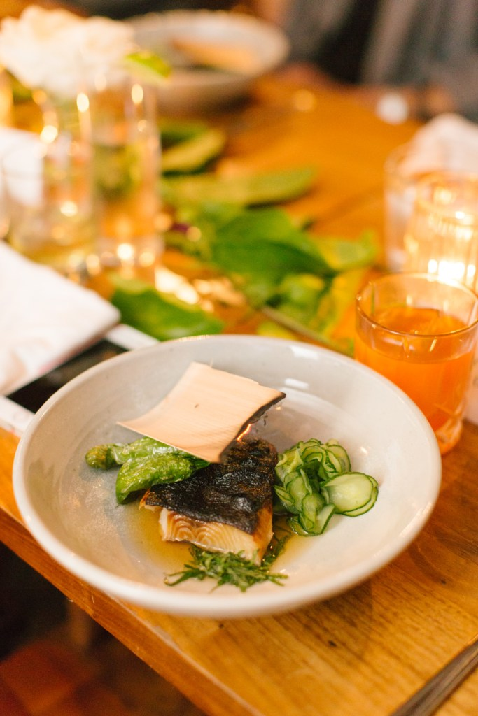 hinoki scented black cod, Hinoki and the bird wedding, Moxie Bright Events