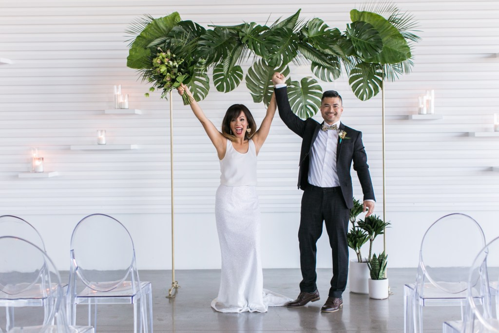 wedding ceremony inspiration at The Modern Long Beach, best wedding planner Moxie Bright Events