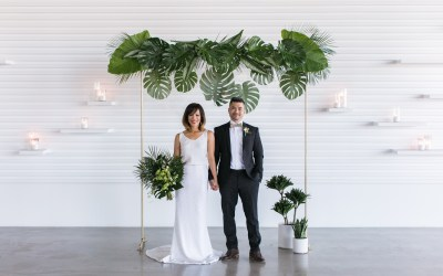 Tropical Romance Inspiration Shoot at The Modern  | Alpha & Tony