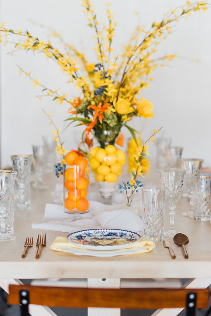 Summer tablescape wedding design by Moxie Bright Events