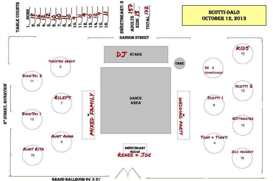 Moxie Bright Events sample floorplan