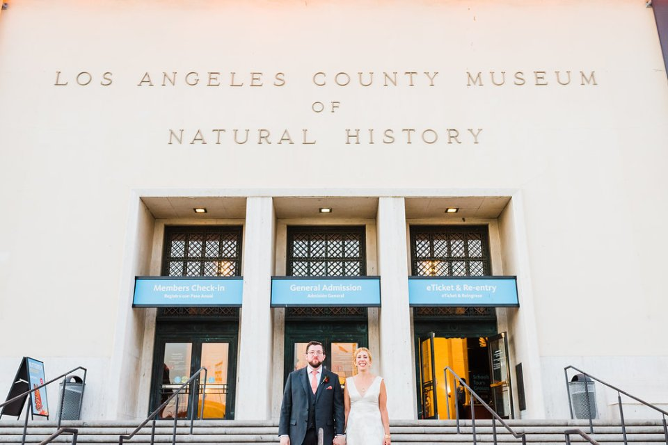 Natural History Museum of Los Angeles wedding