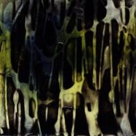 "ProtoNext #78 Acrylic on Paper, mounted on wood, 5""x5"""