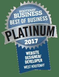 Best in Business Award for Website Designer Developer in the West Kootenay, Revelstoke, Moxie Marketing