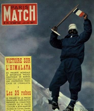 Maurice Herzog en la portada de Paris Match