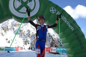 Esqui montaña Ahrntal 2013 skialp ISMF: campeona Individual Letitia Roux foto org