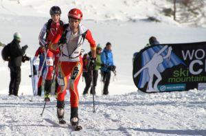 KILIAN JORNET en plena vertical race de esqui montaña Ahrntal 2013.