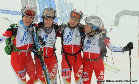 equipo FEDME en europeo skimo 2014
